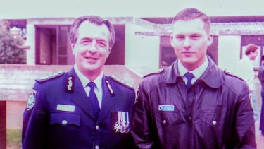 Paul Gibbons (right) with former New South Wales police commissioner Peter Ryan.