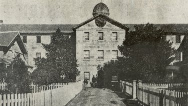 The Female Factory, pictured circa 1938, was built to house female convicts.