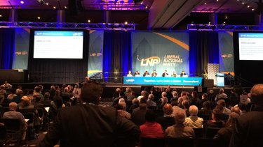 A plan to call on the federal government to pull out of the Paris Climate Accord was voted down at the LNP conference in Brisbane on Sunday.
