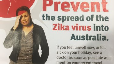 A promotional campaign to help restrict spread of Zika virus in Australia.