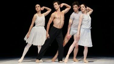 Dimity Azoury, Alexandre Riabko, Francois-Eloi Lavignac and Leanne Stojmenov in <i>Nijinsky</i>.
