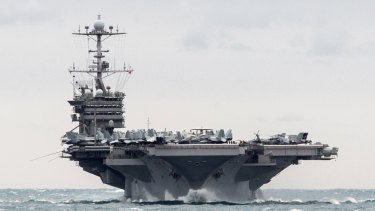 The US would need all of its available aircraft carrier battle groups to hit North Korea pre-emptively.