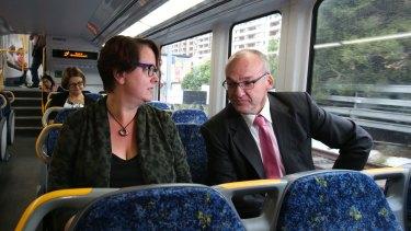 Urged to return: Penny Sharpe with NSW Labor leader Luke Foley.
