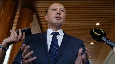 Accused of 'empire building': Minister Peter Dutton.
