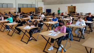 Scholarship tests are designed to discriminate among the highest achieving students.