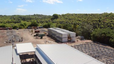 The Nauru detention centre is rebuilt after a fire in 2013.