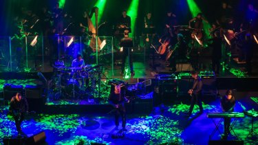 In sync: New Order and the ACO perform at Vivid Live at the Sydney Opera House.