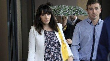 Stephanie Scott's sister Robyn leaves court in Sydney.