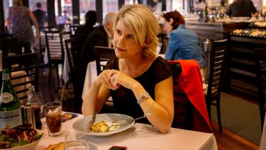 Above politics: Natasha Stott Despoja lunches in her hometown of Adelaide.