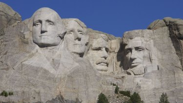 Mount Rushmore in the US.