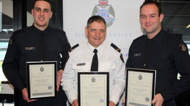 Constable Steven Goldman, Robert Jackson and  Constable Ben Mitchell have been recognised for their bravery.