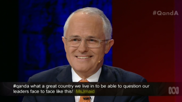 Malcolm Turnbull channelled John Howard in the interview: showing civility and patiently laying out his case.