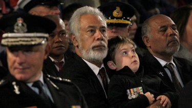 Xanana Gusmao at the ANZAC Day dawn service in Martin Place, Sydney, last year.