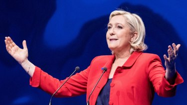 Marine Le Pen, leader of France's far-right Front National party.