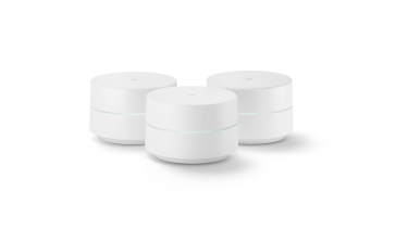 The Google WiFi hubs create a mesh network to improve the wireless coverage around your home.