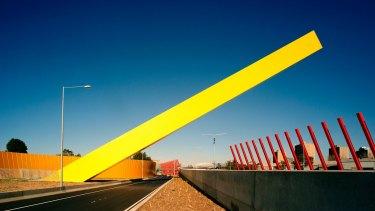 DCM's Tullamarine Gateway makes a nod to Ron Robertson-Swann's <i>Vault</i>.