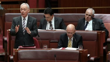 Senators Bob Day, Nick Xenophon, David Leyonhjelm and John Madigan.