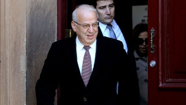 Eddie Obeid leaves court on Tuesday after being found guilty.