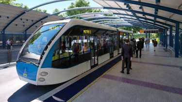 The Brisbane Metro vehicles were expected to be 24 metres long and carry 150 passengers.
