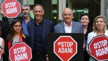 Former Greens leader Bob Brown and businessman Geoff Cousins oppose the mine.