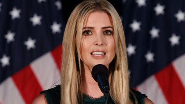 """Ivanka Trump says her father will """"do the right thing""""."""