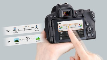 Guided Display makes all the 200D's functions easier to grasp and manipulate.