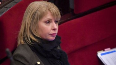 Victorian MP Rachel Carling-Jenkins in Parliament on Thursday.