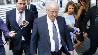 Eddie Obeid outside the NSW Supreme Court in December.