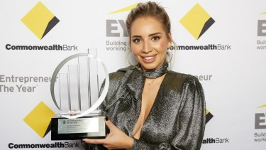 Michelle Aznavorian was awarded emerging entrepreneur.