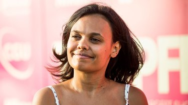 """Miranda Tapsell's definition of being Aboriginal: """"Being told by a white boy from Tassie that that his people pushed my people off a cliff""""."""
