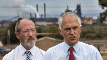 Prime Minister Malcolm Turnbull announced an $80 million railway lines contract to help the Whyalla steelworks on March 9. This was two days before the first confidential meeting between Arrium's lawyers and Grant Thornton.