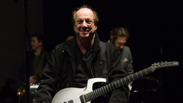Adrian Belew during rehearsals for a special concert celebrating David Bowie in London   on January 8 (on what would have been Bowie's 70th birthday).
