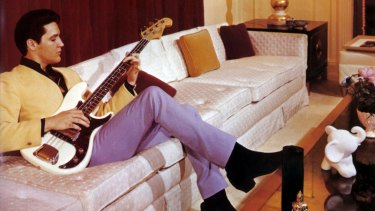 Elvis at home in Graceland in the '60s.