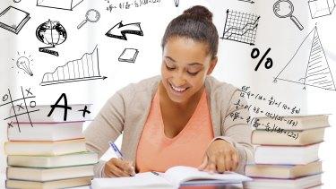 She seems to really like maths.