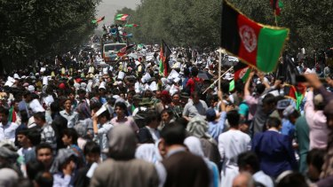 Hazaras demanded a planned power line be rerouted through their poverty-stricken province.