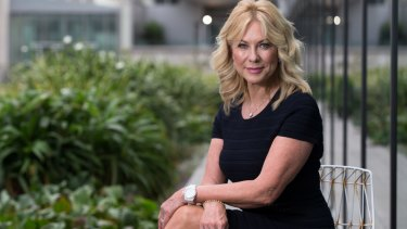 Kerri-Anne Kennerley at UTS this week. Her husband, John, suffered a spinal cord injury after a fall in March and she is supporting Project Edge collaboration.