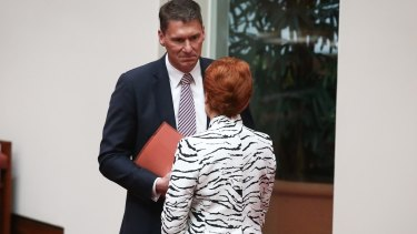 Senator Cory Bernardi has called on the government to support similar positions to those of One Nation.