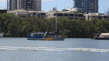 Firefighters reached the yacht by riding a CityFerry.