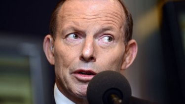 In trouble: Tony Abbott.