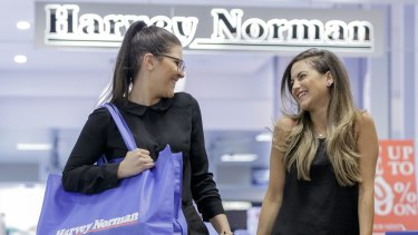 Harvey Norman shares were heavily sold down on Monday, after a director reduced their stake as Credit Suisse speculated on the impact of Amazon's entry into Australia on the retailer.