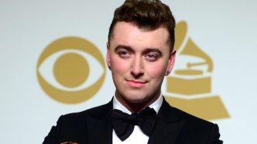 Sam Smith at the 2015 Grammy Awards.