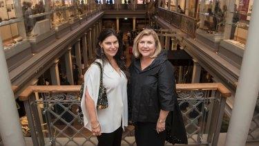 Gretel Packer with Australian Museum director Kim Mackay.