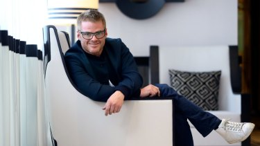 Gastro royalty: Heston Blumenthal in Melbourne's Crown Casino.