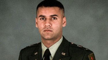 US Army Captain Humayun Khan was killed when he tried to stop two suicide bombers outside his base in Baqubah, Iraq, in June 2004.