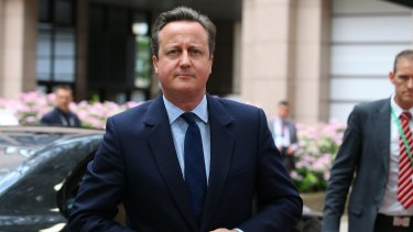 David Cameron, UK PM arrives for a meeting of European Union leaders in Brussels, Belgium.