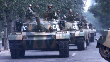 First came a Chinese road then came the Chinese tanks in Tibet.