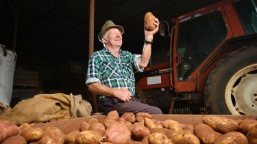 Third-generation potato farmer Bernie White.