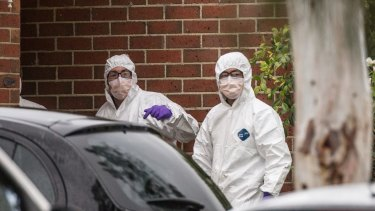 Police searched the Roxburgh Park home on Tuesday morning.