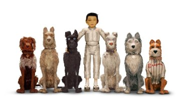 Atari with Spots and the Alpha dogs in <I>Isle of Dogs</i>.