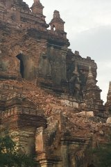 A damaged temple in Bagan.